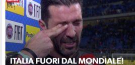 Eleminimi i Italisë, Buffon shpërthen në lot. FOTO