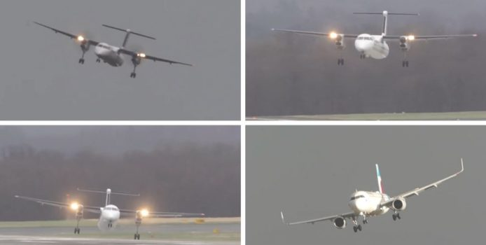 Tmerr/ Momenti kur aeroplani hyn në mes të stuhisë. VIDEO
