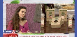 PhD, Diola Dosti-Baftiu, nutricionistja e mirenjohur flet per vlerat e Kripes Roze te Himalajes tek Neranxi Show ne News 24.