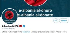 Ministria e Jashtme Shqiptare uron Serbinë në Twitter, më pas fshin postimin